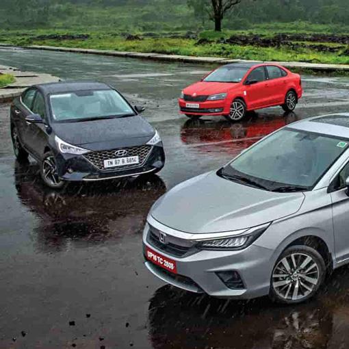 Top 5 Petrol Manual Mid-Size Sedans in october 2020